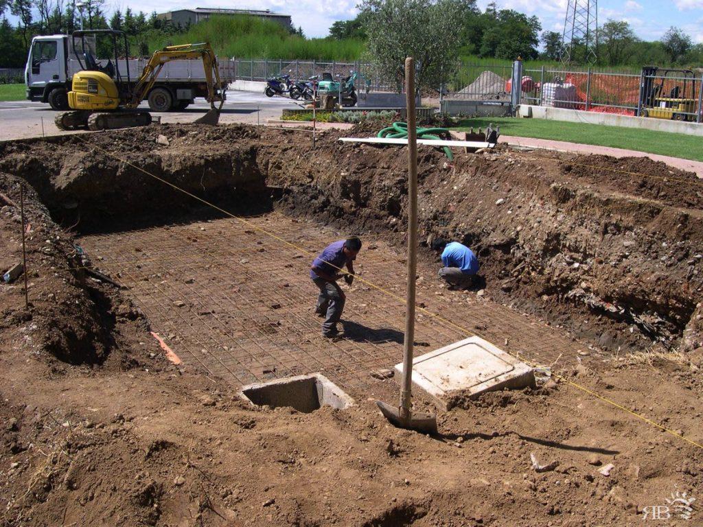 1) realizzazione dello scavo