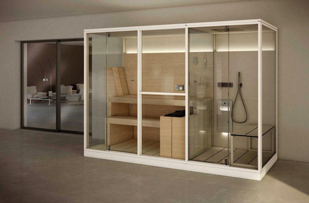 Cabine per bagno turco precostruite e soluzioni combinate - RB Piscine